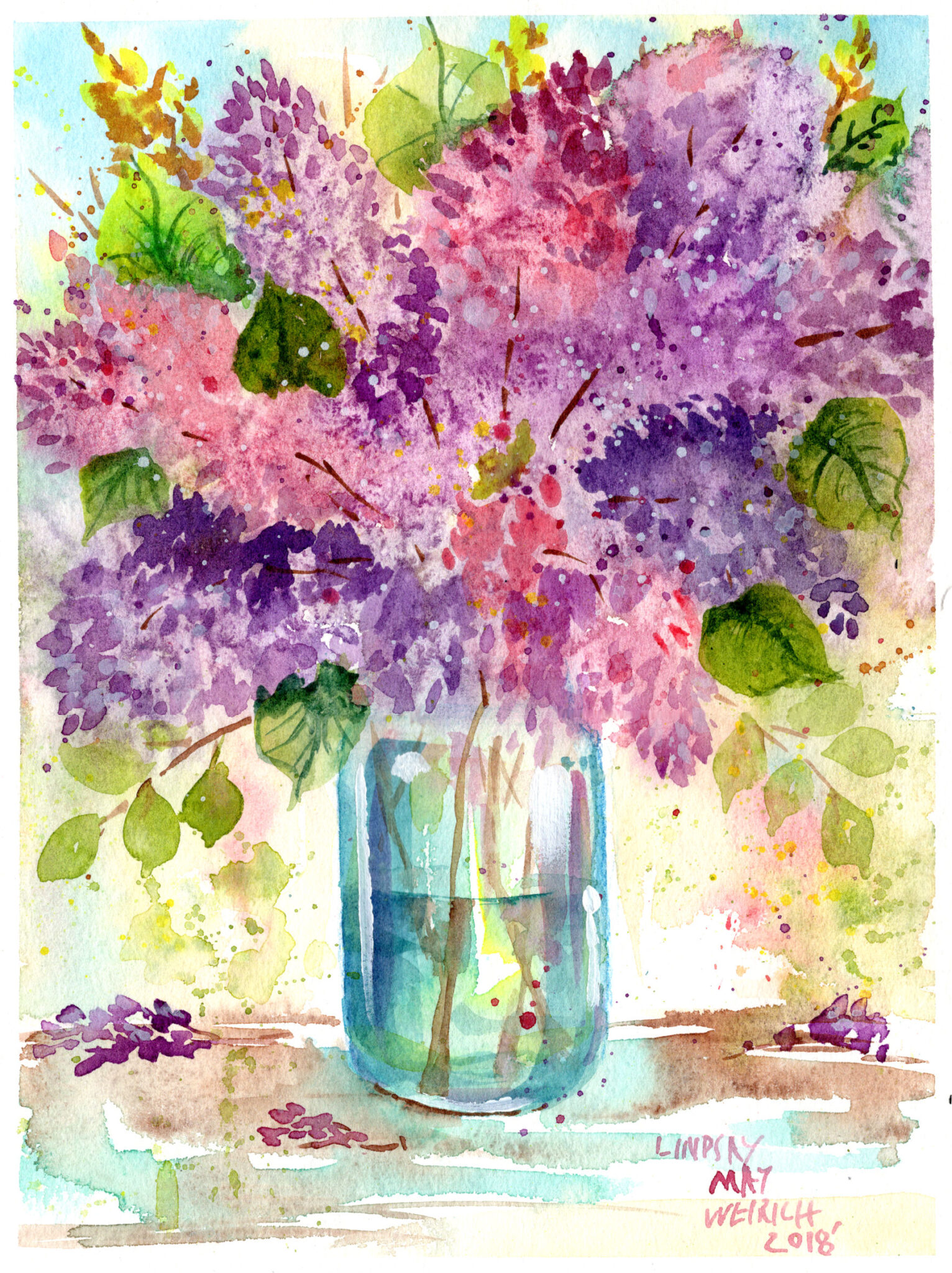 accents Lilacs In A Jar