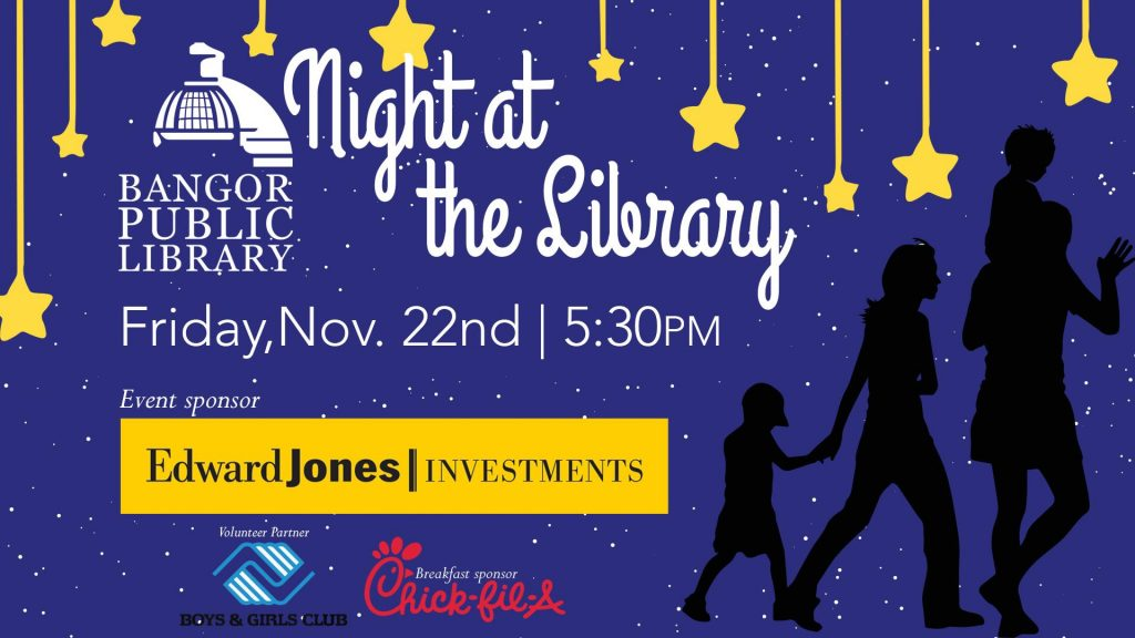 Night at the Library Fundraiser @ Bangor Public Library